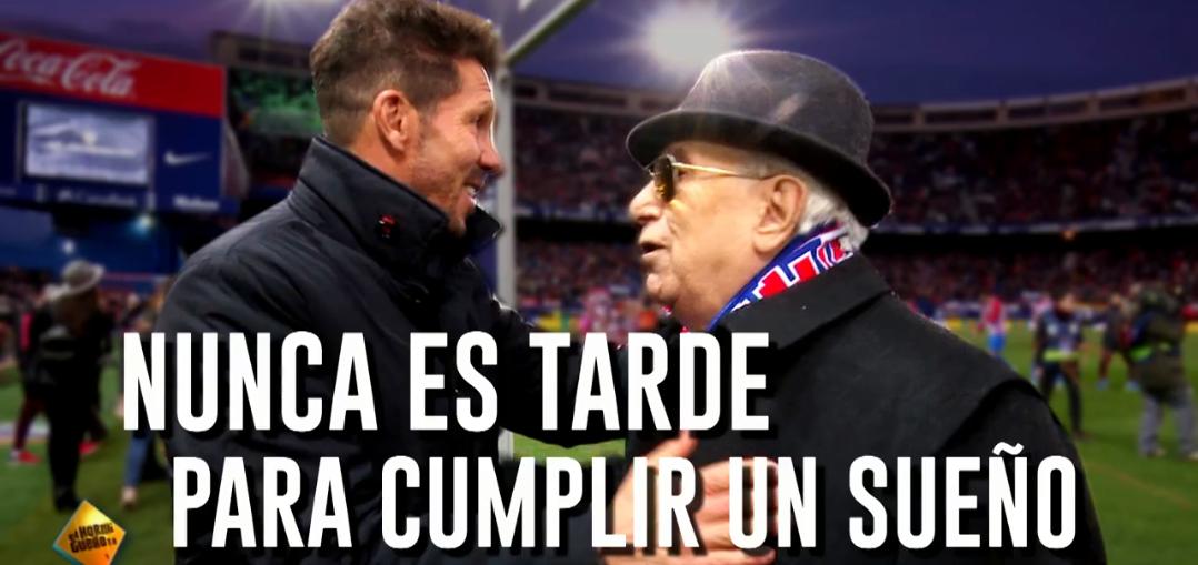 Atlético de Madrid presta homenagem aos sócios mais antigos do clube