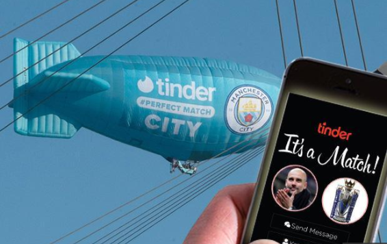 Manchester City e Tinder