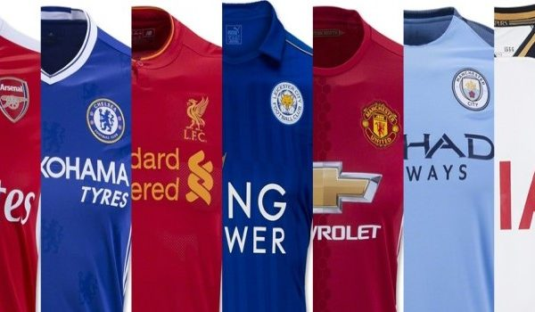 Patrocínio nas camisas de futebol